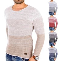 Reslad Strickpullover Herren Colorblock RS-3106
