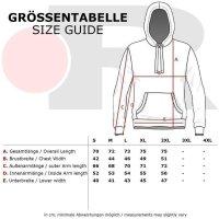 Reslad Herren Kapuzen Sweatshirt RS-1003 Rot-Weiß 2XL