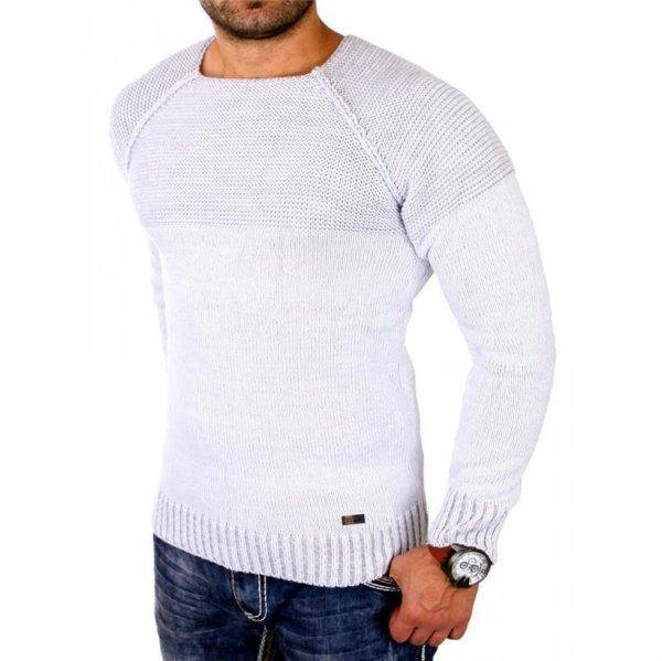 Reslad Pullover RS-16081 Weiß 3XL