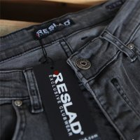 Reslad Jeans Herren Destroyed Look Slim Fit Denim Strech Jeans-Hose RS-2062 Schwarz W31 / L30