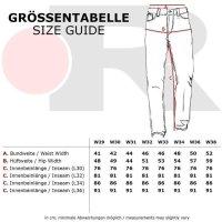 Reslad Jeans Herren Destroyed Look Slim Fit Denim Strech Jeans-Hose RS-2062 Schwarz W34 / L34