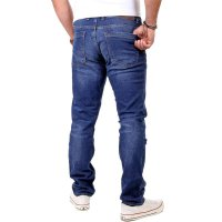 Reslad Herren Jeans Slim Fit Destroyed RS-2062 Blau W32 / L30