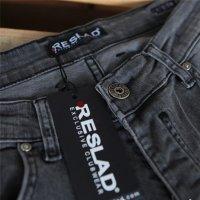 Reslad Herren Jeans Slim Fit Destroyed RS-2062 Schwarz W34 / L36