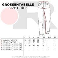 Reslad Jogg-Jeans Biker-Style Jeans-Herren Slim Fit Jogging-Hose RS-2068 Schwarz M