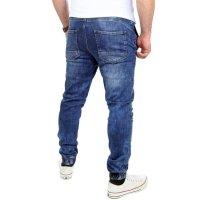 Reslad Casual Style Jeans-Herren Slim Fit Jogging-Hose RS-2071 Blau S