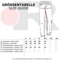 Reslad Casual Style Jeans-Herren Slim Fit Jogging-Hose RS-2071 Schwarz S