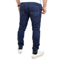 Reslad Casual Style Jeans-Herren Slim Fit Jogging-Hose RS-2071 Dunkelblau S