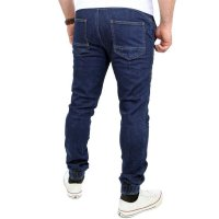 Reslad Casual Style Jeans-Herren Slim Fit Jogging-Hose RS-2071 Dunkelblau L