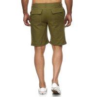 Reslad Leinen-Hose kurze Herren-Hose Stoffhose Sommer-Shorts RS-3002 Khaki M