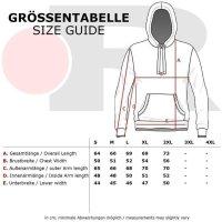 Reslad Strickpullover Herren Colorblock Kapuzen-Pullover Hoodie RS-3108 Indigoblau 2XL