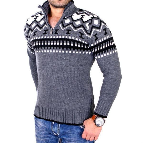 Reslad Norweger Pullover RS-3110 Anthrazit 3XL