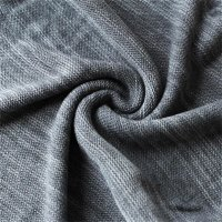 Reslad Strickpullover Herren-Pullover Melange Colorblock Rundhals Strick-Pulli RS-3124 Anthrazit S