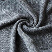 Reslad Strickpullover Herren-Pullover Melange Colorblock Rundhals Strick-Pulli RS-3124 Anthrazit M