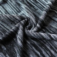 Reslad Strickpullover Herren-Pullover Melange Colorblock Rundhals Strick-Pulli RS-3124 Schwarz S