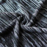 Reslad Strickpullover Herren-Pullover Melange Look Grobstrick-Pulli RS-3125 Schwarz 2XL