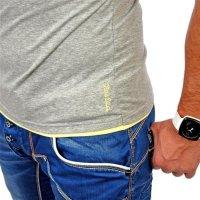 Reslad Herren T-Shirt Miami RS-5050 Grau-Gelb XL
