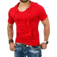 Reslad Herren Kapuzen T-Shirt Kingston RS-5053 Rot L