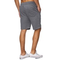 Reslad Sweat-Shorts Herren Basic Sport Freizeit Kurze Sweat-Hose RS-5061 Anthrazit S