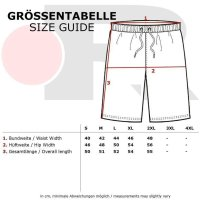 Reslad Sweat-Shorts Herren Basic Sport Freizeit Kurze Sweat-Hose RS-5061 Schwarz 2XL