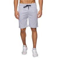 Reslad Sweat-Shorts Herren Basic Sport Freizeit Kurze Sweat-Hose RS-5061 Grau S