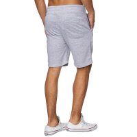 Reslad Sweat-Shorts Herren Basic Sport Freizeit Kurze Sweat-Hose RS-5061 Grau M