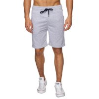 Reslad Sweat-Shorts Herren Basic Sport Freizeit Kurze Sweat-Hose RS-5061 Grau L