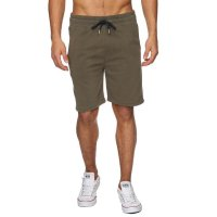 Reslad Sweat-Shorts Herren Basic Sport Freizeit Kurze Sweat-Hose RS-5061 Khaki L