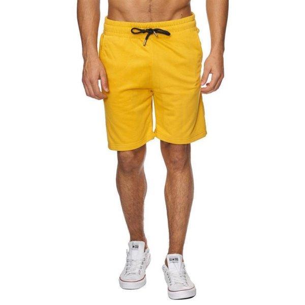 Reslad Sweat-Shorts Herren Basic Sport Freizeit Kurze Sweat-Hose RS-5061 Gelb M