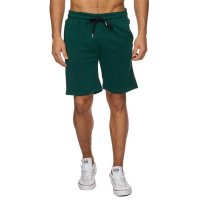Reslad Sweat-Shorts Herren Basic Sport Freizeit Kurze Sweat-Hose RS-5061 Grün S