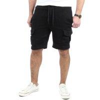 Reslad Kurze Hose Herren Cargo Bermuda Shorts Jogginghose Sport-Hose RS-5069 Schwarz 2XL