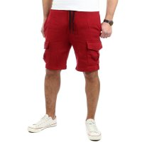 Reslad Kurze Hose Herren Cargo Bermuda Shorts Jogginghose Sport-Hose RS-5069 Bordeaux M