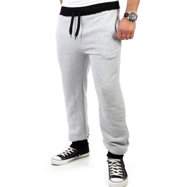 Reslad Herren Athletic Sweatpant Jogginghose RS-5100 Grau-Schwarz M
