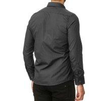 Reslad Herren Hemd Kentkragen Unicolor Langarmhemd RS-7002 Anthrazit S