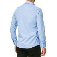 Reslad Herren Hemd Kentkragen Unicolor Langarmhemd RS-7002 Hellblau 2XL