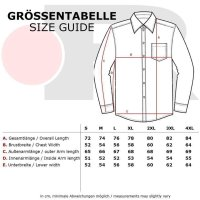 Reslad Herren Langarm Hemd Alabama RS-7050 Weiß-Schwarz L