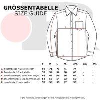 Reslad Hemd Herren Karo Material-Mix Jeans RS-7202 Braun XL