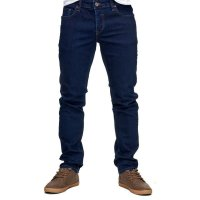 Reslad Jeans-Herren Slim Fit Basic Style Stretch-Denim Jeans-Hose RS-2063 Schwarz W32 / L32