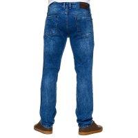 Reslad Jeans-Herren Slim Fit Basic Style Stretch-Denim Jeans-Hose RS-2063 Blau W33 / L34