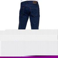 Reslad Jeans-Herren Slim Fit Basic Style Stretch-Denim Jeans-Hose RS-2063 Dunkelblau W29 / L34