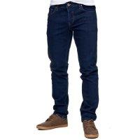 Reslad Jeans-Herren Slim Fit Basic Style Stretch-Denim Jeans-Hose RS-2063 Dunkelblau W31 / L34