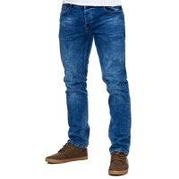 Reslad Jeans-Herren Slim Fit Basic Style Stretch-Denim Jeans-Hose RS-2063 Dunkelblau W38 / L34