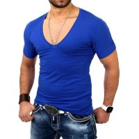 Reslad Herren V-Neck T-Shirt RS-5052 Bordeaux M