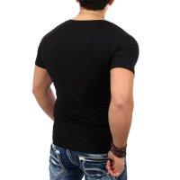 Reslad T-Shirt V-Neck Uni RS-5052 Schwarz 17100 XL