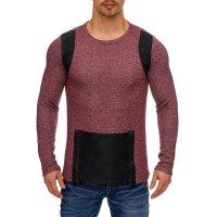 Herren Oversize Sweatshirt Pullover Hoodie TAZZIO 1231-1