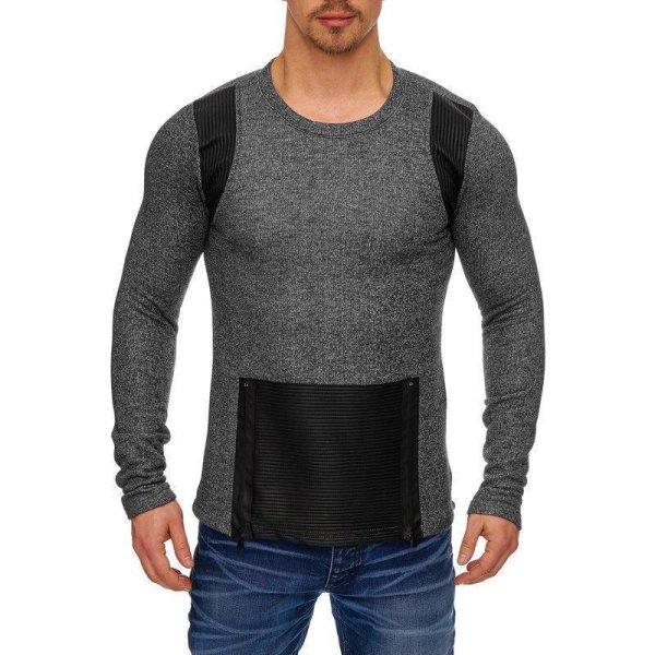Herren Oversize Sweatshirt Pullover Hoodie TAZZIO 1231-1 Anthrazit L