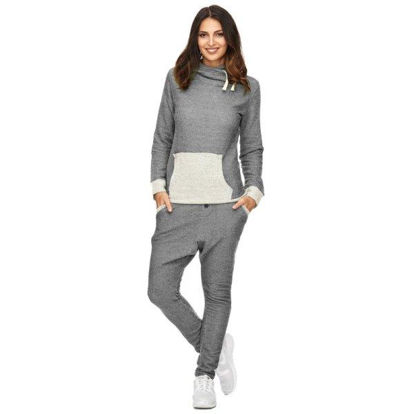 Damen Sportanzug Trainingsanzug Jogginganzug TAZZIO 1000-2000-Anthrazit