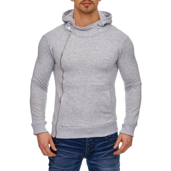 Sweat-Jacke Hoodie Kapuzenjacke Sweatjacke Zip-Hoodie TAZZIO 1222-1-Grau-XL