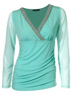Blusenshirt, aqua von Ashley Brooke