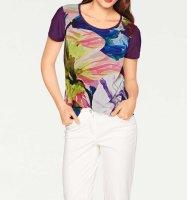 Blusenshirt, lila-bunt von Ashley Brooke