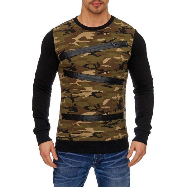 Herren Sweatshirt Camouflage Langarmsweat TAZZIO 1236-1